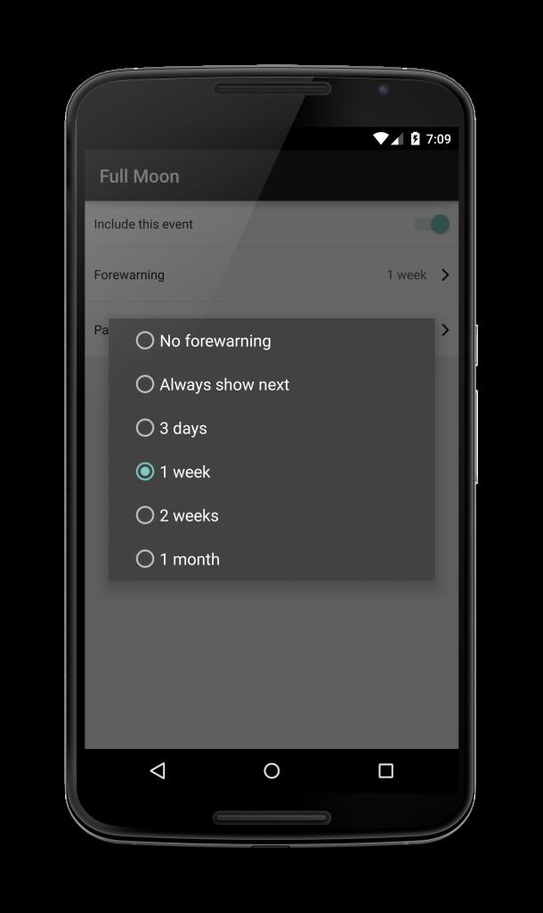 android menu phone